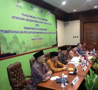 - sesi press conference bi 1 - BI, BWI, BAZNAS, dan DSN-MUI Kerja Sama Pengembangan Ekonomi dan Keuangan Syariah
