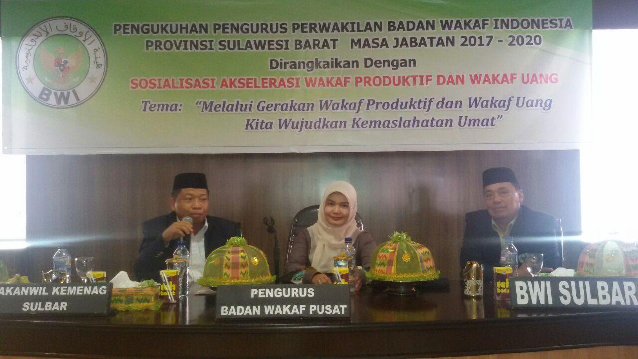 Perwakilan BWI Provinsi Sulawesi Barat Tahun 2017-2020 Dikukuhkan