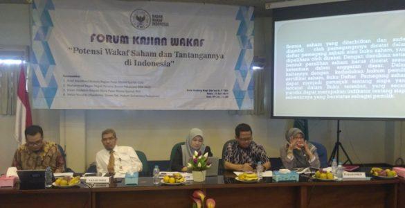 Forum Kajian wakaf BWI  - Forum Kajian wakaf BWI 585x300 - Potensi Wakaf Saham Dan Tantangannya di Indonesia