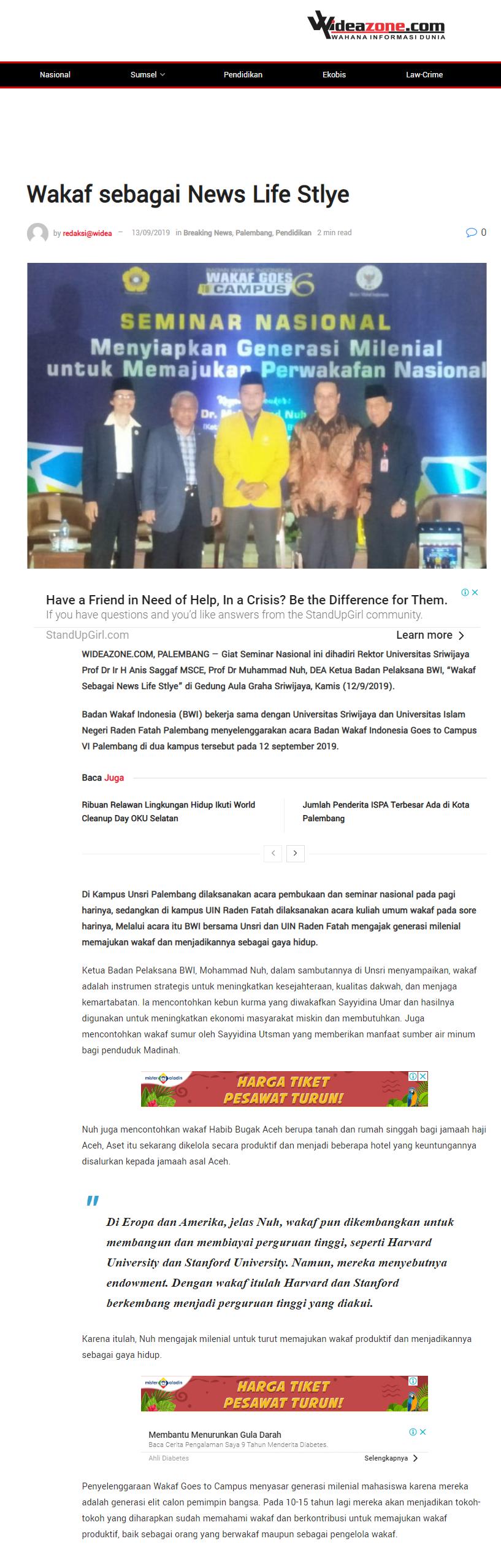 Wakaf Sebagai News Life Style  - screenshot wideazone - Wakaf Sebagai News Life Style