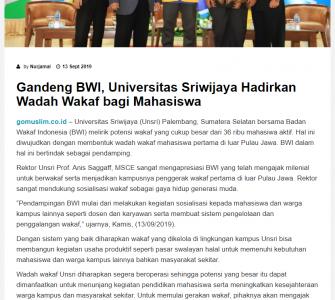 Gandeng BWI, Universitas Sriwijaya Hadirkan Wadah Wakaf Bagi Mahasiswa  - screenshot www - Gandeng BWI, Universitas Sriwijaya Hadirkan Wadah Wakaf Bagi Mahasiswa