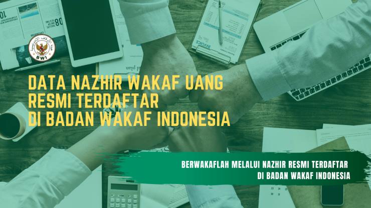 DATA NAZHIR WAKAF UANG TERDAFTAR DI BADAN WAKAF INDONESIA  - DATA NAZHIR WAKAF UANG TERDAFTAR DI BADAN WAKAF INDONESIA 740x416 - Daftar Nazhir Wakaf Uang – Update Oktober 2019