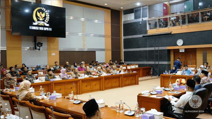 RDP Badan Wakaf Indonesia dengan Komisi VIII DPR RI  - RDP Badan Wakaf Indonesia dengan Komisi VIII DPR RI min 740x416 - RDP dengan Komisi VIII DPR RI, BWI Sampaikan Optimalisasi Pengembangan Wakaf