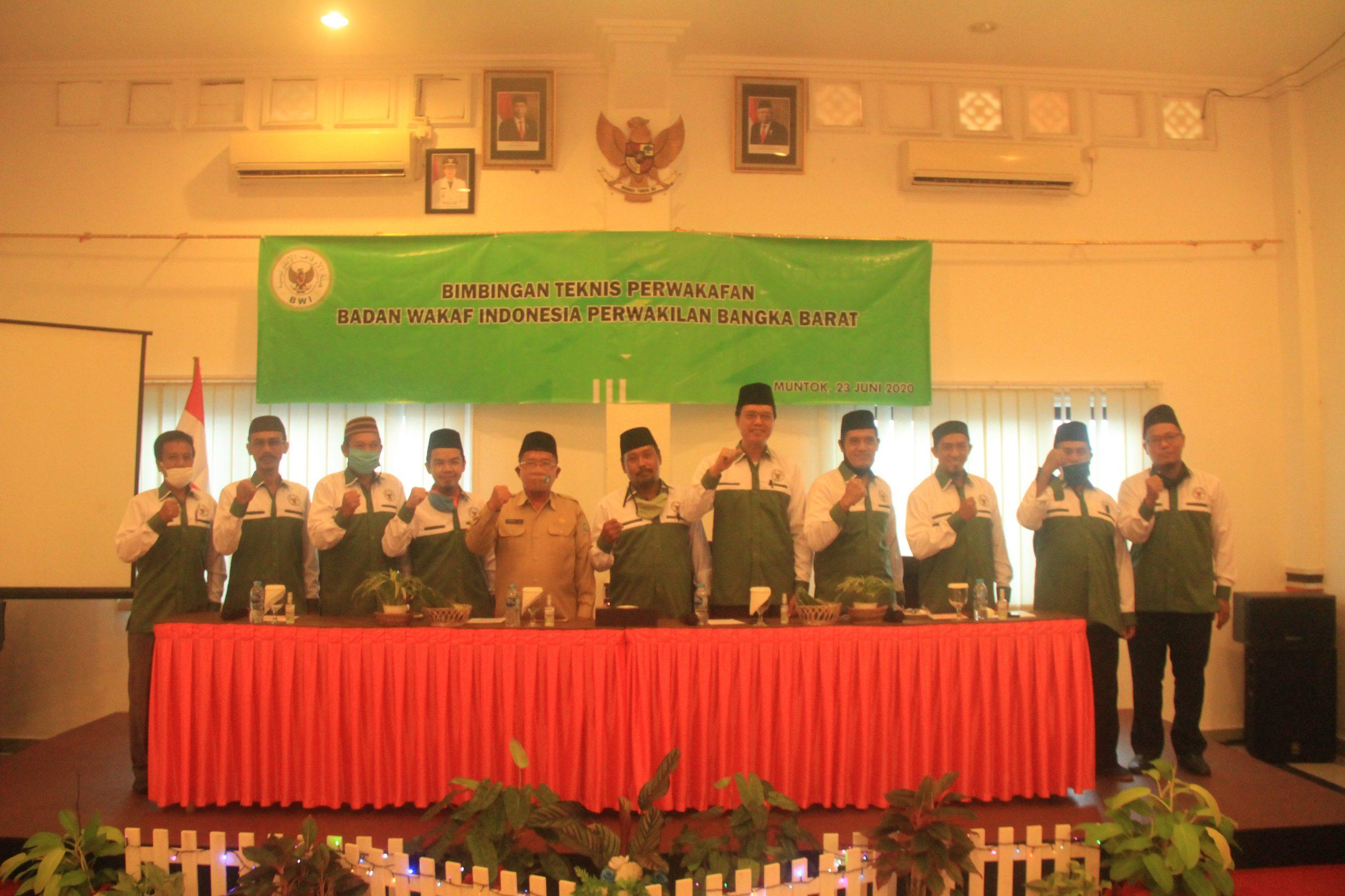 Badan Wakaf Indonesia (BWI) Perwakilan Bangka Barat Menggelar Bimbingan Teknis Perwakafan