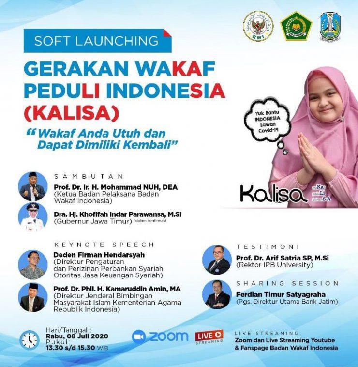 Badan Wakaf Indonesia Siap Gelar Soft Launching KALISA 2020  - Launching Kalisa 740x758 - Badan Wakaf Indonesia Siap Gelar Soft Launching Kalisa  2020