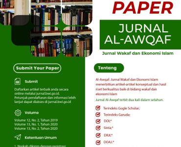 Al-Awqaf: Jurnal Wakaf dan Ekonomi Islam  - IMG 20200811 WA0013 370x300 - Call For Paper : Jurnal Al-Awqaf