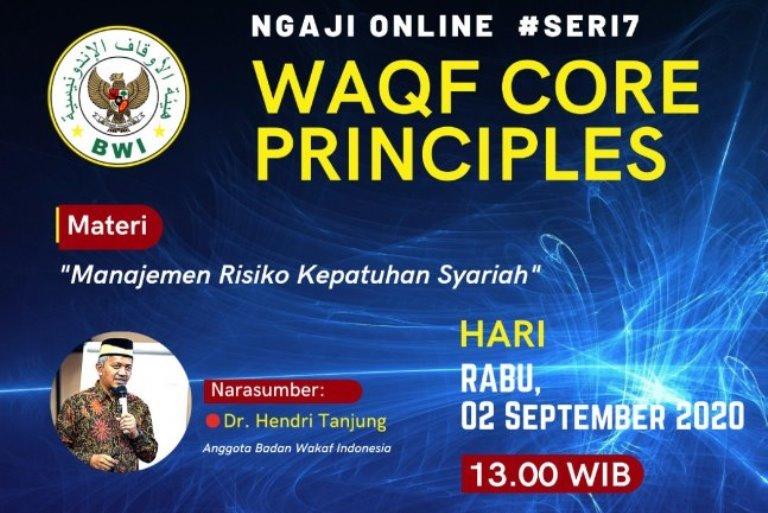 Materi Waqf Core Principles #Seri7  - WCP Seri 7a - Materi Waqf Core Principles #Seri7