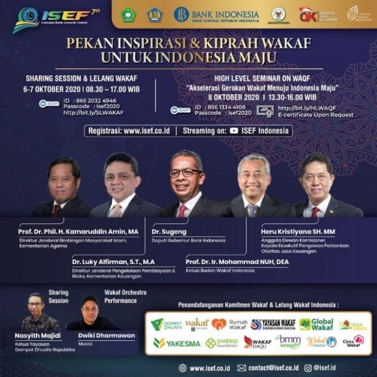 ISEF 2020  - IMG 20201006 WA0015 1 740x740 - Pekan Inspirasi & Kiprah Wakaf untuk Indonesia Maju