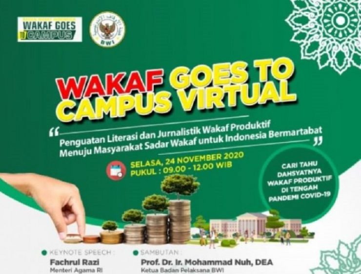 - Badan Wakaf Indonesia Gelar WGTC Virtual 740x561 - Materi Wakaf Goes TO Campus Virtual 2020