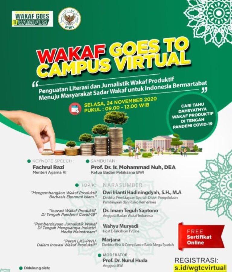 Badan Wakaf Indonesia Gelar WGTC Virtual Besok  - Badan Wakaf Indonesia Gelar WGTC Virtual Besok 2 - Badan Wakaf Indonesia Gelar WGTC Virtual Besok