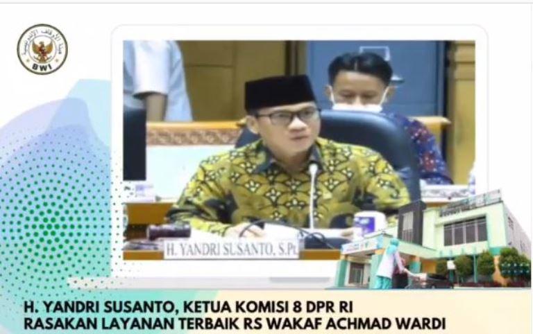 Ketua Komisi 8 DPR Ungkap Kecanggihan dan Manfaat RS Wakaf Pertama di Indonesia  - Capture 1 - Ketua Komisi 8 DPR Ungkap Kecanggihan dan Manfaat RS Wakaf Pertama di Indonesia